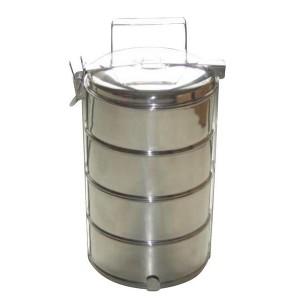 Čtyřpatrový jídlonosič Toro, nerez, 1 l