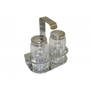 Stojánek na sůl a pepř je vyroben z kvalitního nerezového materiálu
