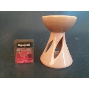Aromalampa 13,7cm béžová + 2x 10ml