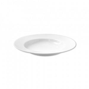 Talíř jídelní, keramika, bílý, 26 cm