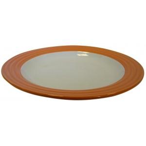 Talíř mělký,  26, 8 x 3, 6 cm keramika