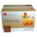 kalíšky sklo 365 ml VICTORIA- sada 6 ks