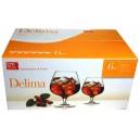kalíšky sklo 336 ml DELIMA- sada 6 ks